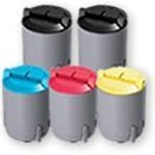 Compatible Toner Cartridges - includes 2 Black, 1 Cyan, 1 Magenta & 1 Yellow (replaces the Samsung CLP-300 Series Toners) - 5 Pack