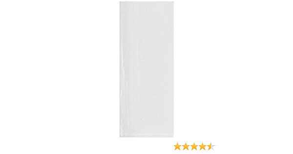 1.25 Mil Pack of 100 Plymor Flat Open Clear Plastic Poly Bags 10 x 24
