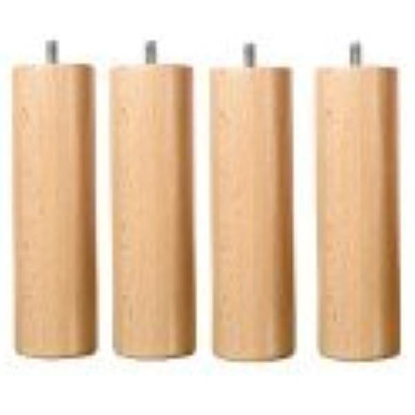 Patas de somier de 20 cm, madera barnizada.: Amazon.es: Hogar
