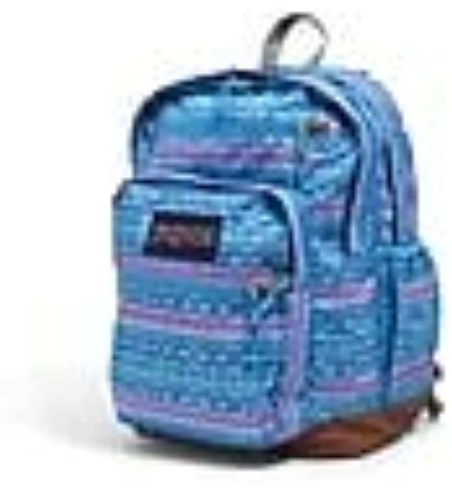 JanSport BLUE COOL STUDENT BACKPACK SCHOOL BOOKBAG Striped Line Glow
