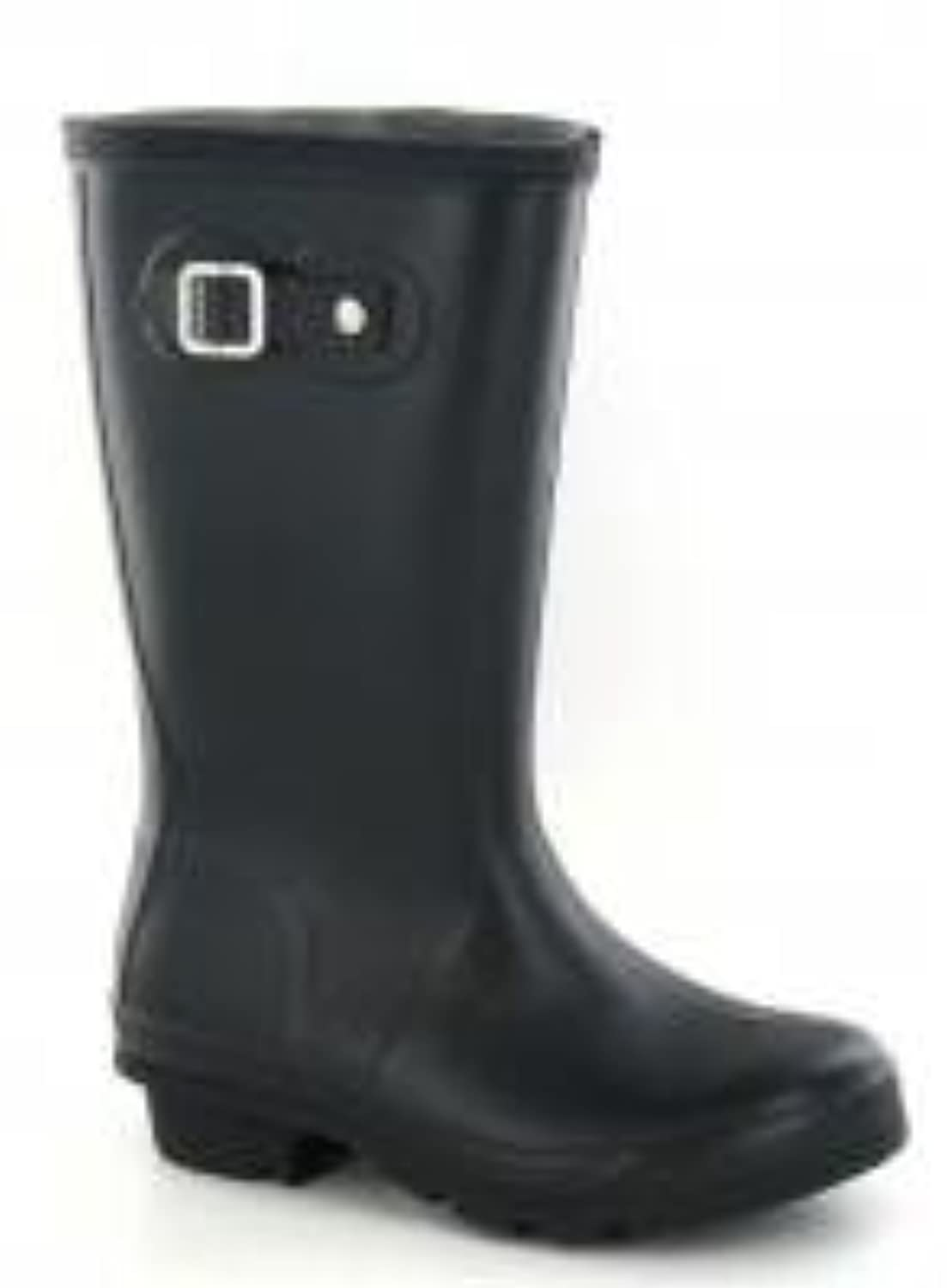Spot On Flat Plain Welly (Black, Size 1 Child UK)