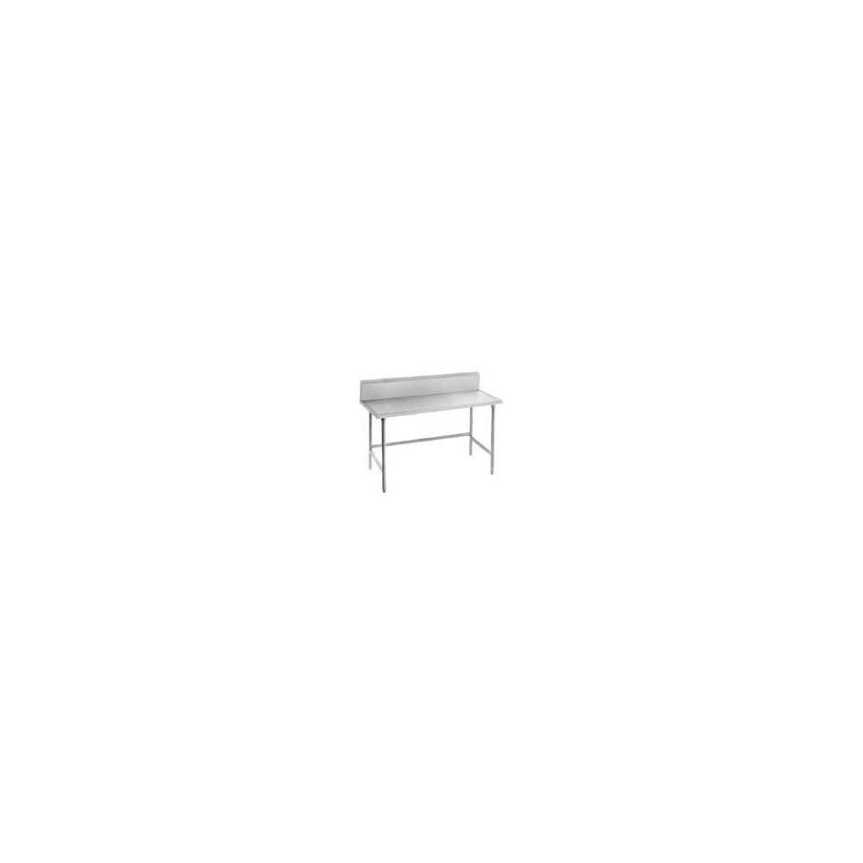 Advance Tabco TVKS 242 24 Work Table   10 Backsplash, 24 W, 16 ga 304 Stainless Legs, Each