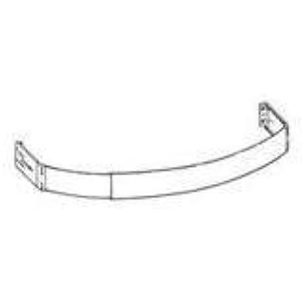 Kirsch Curved White Curtain Rod 2 1//2 Inch Face 28 to 48 Inch Width