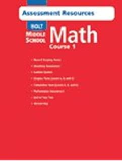 Homework and practice workbook teachers edition holt middle holt middle school math assessment resources with answer key course 1 fandeluxe Gallery