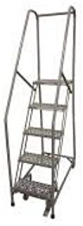 product image for Cotterman 1005R3232A3E10B4C1P6 - Rolling Ladder Steel 80In. H. Gray