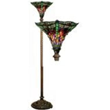 Warehouse by Tiffany's 1509-BB75B Dragonfly Tiffany-Style 72-Inch Torchiere Lamp