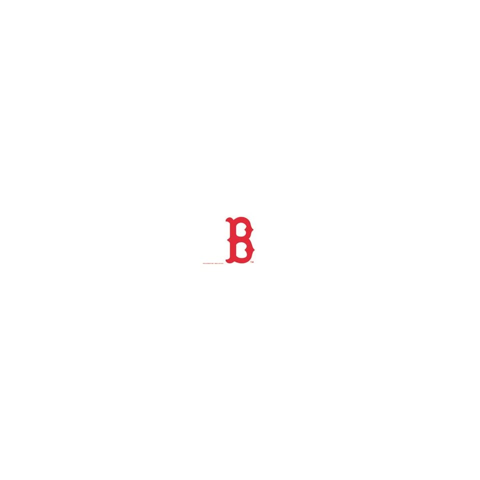 BOSTON RED SOX B MLB TEAM WHITE VINYL DECAL STICKER