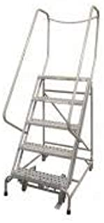 product image for Cotterman 1005R1820A3E10B4D3C1P6 - Rolling Ladder Steel 80In. H. Gray