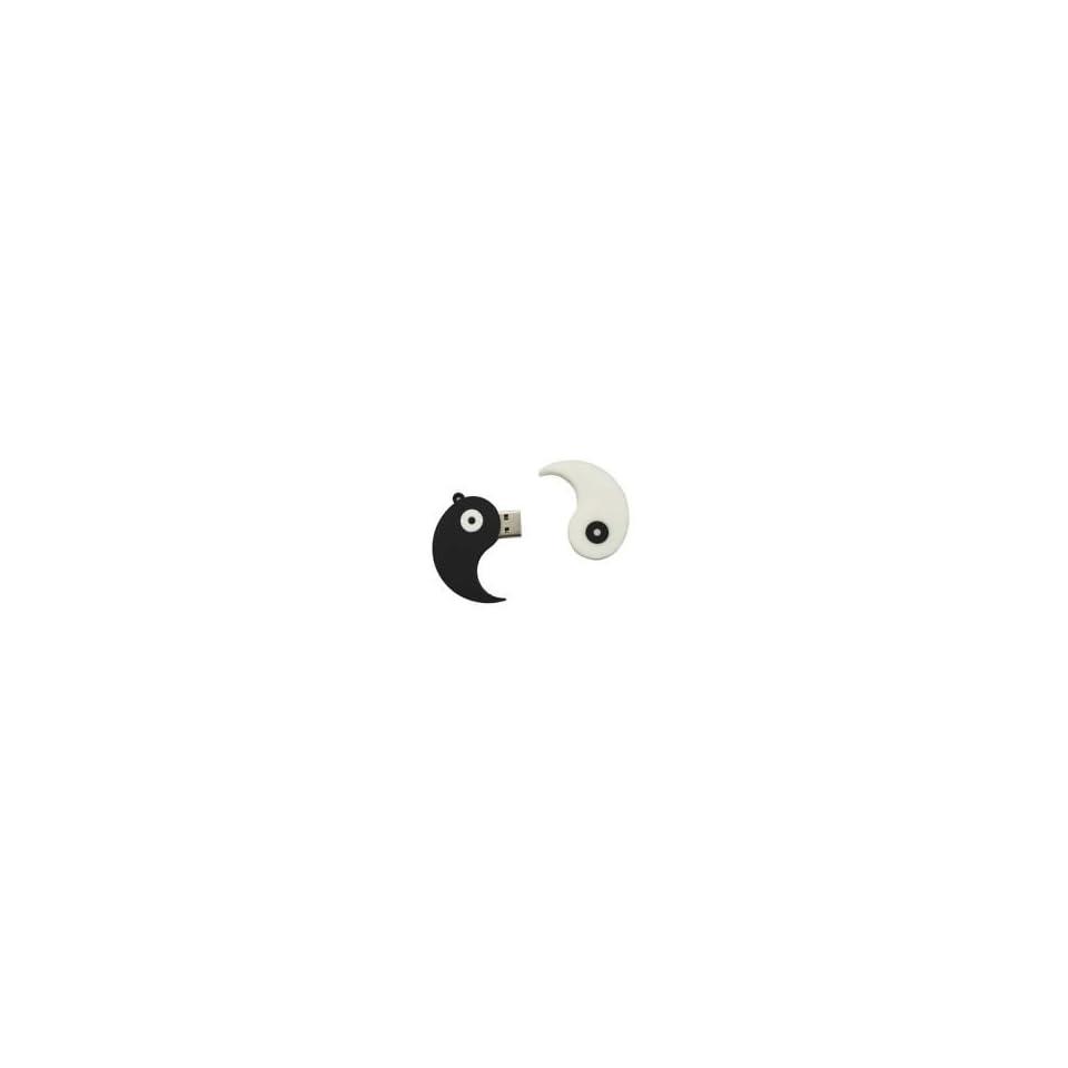 8GB Eight Diagrams Shaped Cartoon USB Flash Drive Black & White