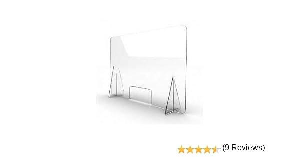 Mampara de metacrilato mostrador 5mm proteccion para oficinas mostradores manicura sobremesa material transparente (80X80): Amazon.es: Bricolaje y herramientas