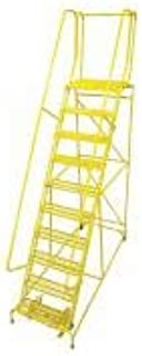 product image for Cotterman 1510R2632A6E20B4W4C2P6 - Rolling Ladder Steel 130In. H. Yellow