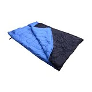 Outsunny Two-Person Double Wide Sleeping Bag, Blue/Black, 86 x 59-Inch/Medium