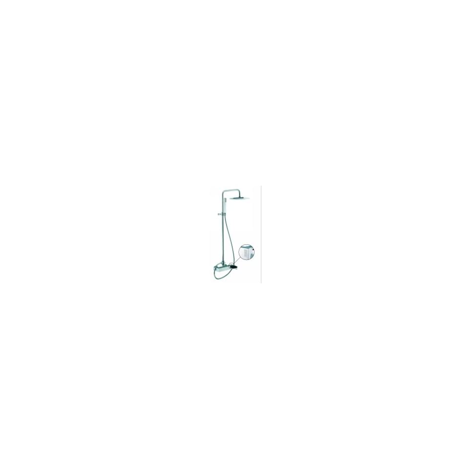 Fima Frattini S3505 2CCR Brick Chic Wall Mounted Shower Mixer With Rainhead and Hand Shower Set