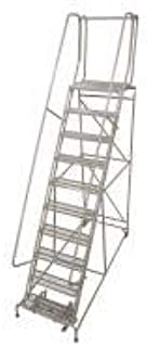 product image for Cotterman 1012R2632A6E30B4P6 - Rolling Ladder 162 in.H 59deg Perforated