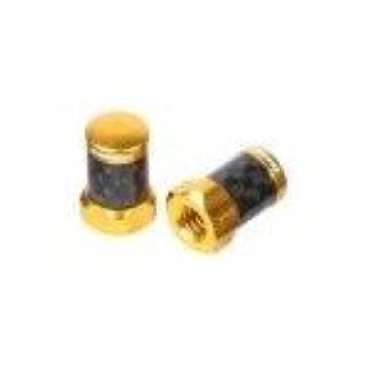 [해외] 【FN-CAVALVECAP/GO】FAR&NEAR 카본 프렌치 밸브 캡 2PCS 골드