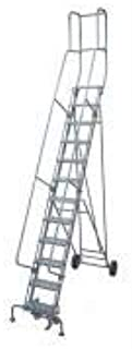 product image for Cotterman 6515R1840A1E20B4BC1P3 - Rolling Ladder Steel 192In. H. Gray