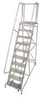 product image for Cotterman 1510R3232A3E30B4W4C1P6 - Rolling Ladder Steel 130In. H. Gray