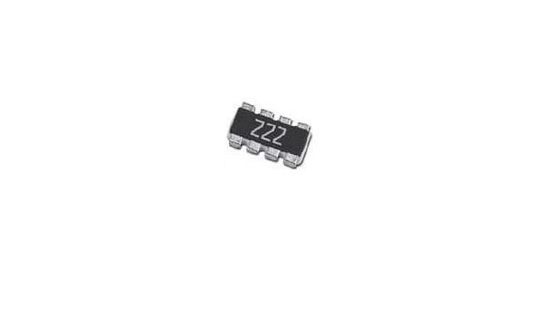 YC124-JR-07120RL Pack of 2500 Resistor Networks /& Arrays 120 5/% Convex Square 4X0402