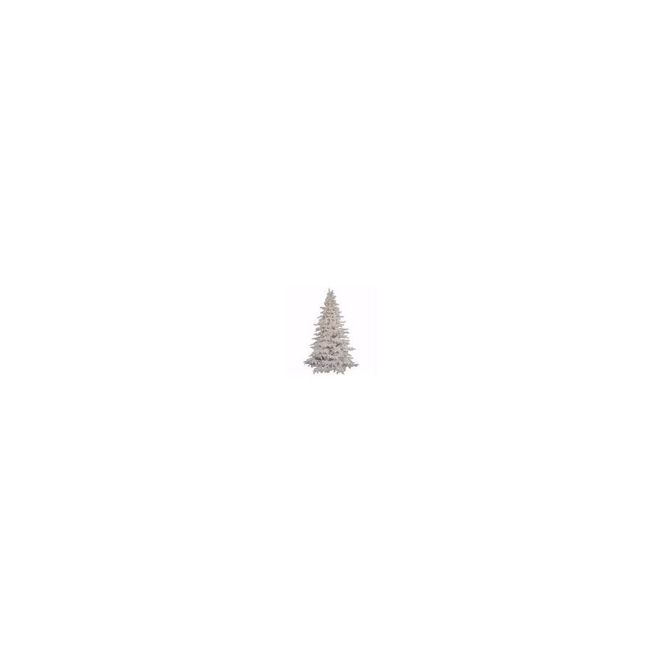 Vickerman 16029   9 x 67 Flocked White Spruce 1,200 Clear Light