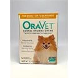 Merial Oravet Dental Hygiene Chew for X-Small Dogs (up to 10 lbs), Dental Treats for Dogs, 14 Count