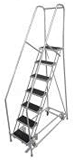 product image for Cotterman 1007R2630A3E10B4AC1P6 - Rolling Ladder Steel 100In. H. Gray