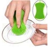 wanshop ® Scrubber Spugna di silicone, Food Grade multifunzione antibatterico Silicone Scrubber Spugna Spazzola per la pulizia Cucina e bagno