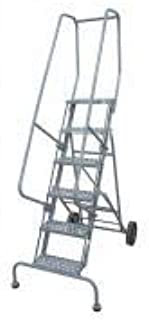 product image for Cotterman 6506R1830A1E10B11C1P6 - Rolling Ladder Steel 90In. H. Gray