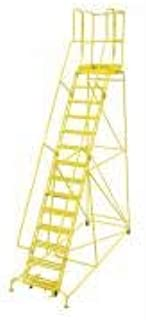 product image for Cotterman 1514R2642A3E20B4W4C2P3 - Rolling Ladder Steel 182In. H. Yellow