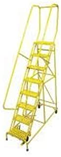 product image for Cotterman 1008R1824A1E10B4C2P6 - Rolling Ladder Steel 110In. H. Yellow