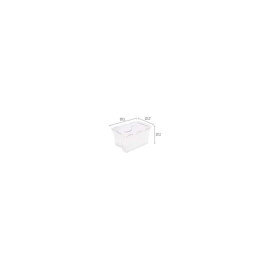 STERILITE 17511712 6 Quart/5.7 Liter Clearview Latch Box, Clear with Sweet Plum Latches, 12 Pack