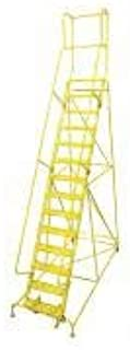 product image for Cotterman 1514R2642A2E10B4W4C2P3 - Rolling Ladder Steel 182In. H. Yellow