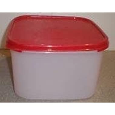 Tupperware Modular Mate Square 2 Container. Red Seal