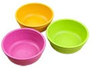 product image for Re-Play Made in the USA 3pk Bowls for Easy Baby, Toddler, and Child Feeding - Bright Pink, Sunny Yellow, Lime (Pink Asst)
