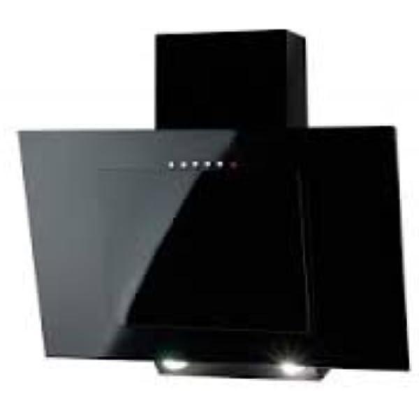 Campana vertical para chimenea, 50 cm, color negro: Amazon.es: Hogar