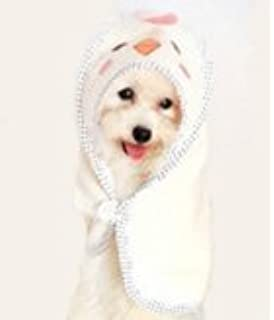 Balacoo Pet Bathrobe Pajamas Quick Drying and Super Absorbent Night Gown Bath Robe for Dog Cat with Hood