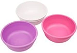 product image for Re-Play Made in The USA 3pk Bowls for Easy Baby, Toddler and Child Feeding - Purple, White, Bright Pink (Berry)