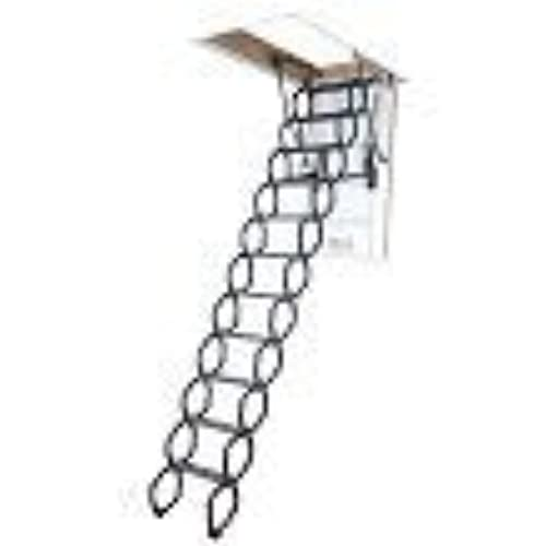 fakro lst insulated steel scissor attic ladder for 22inch x 31inch rough openings