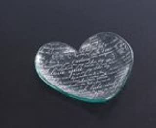 product image for Annieglass Heart Shaped Glass Plate - 24k Gold Sweet Nothings