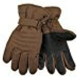 KINCO 1170-S Men's Ski Gloves, Duck Fabric, Waterproof with Heat keep Lining, Small, Brown