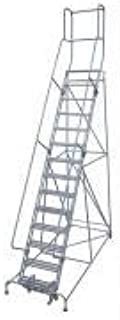 product image for Cotterman 1514R2642A1E10B9AC1P3 - Rolling Ladder Steel 182In. H. Gray
