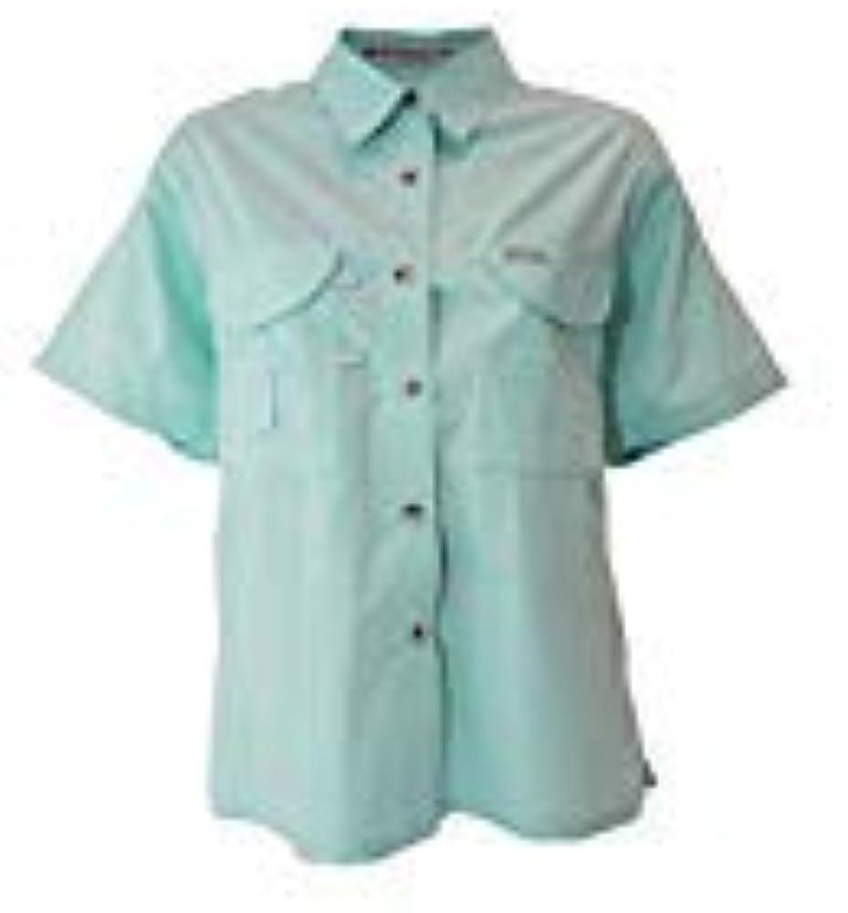 Tiger Hill - Camisa de Pesca de Manga Corta para Mujer - Verde - Medium: Amazon.es: Ropa y accesorios
