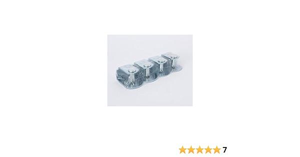 Argomaniz Cuens asesores en Descanso Juego de 4 Abrazaderas metálicas para somier con Tubo 30 * 30, para roscar Patas Redondas