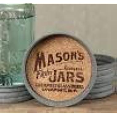 Mason Jar Lid Coaster with Mason Jar Logo