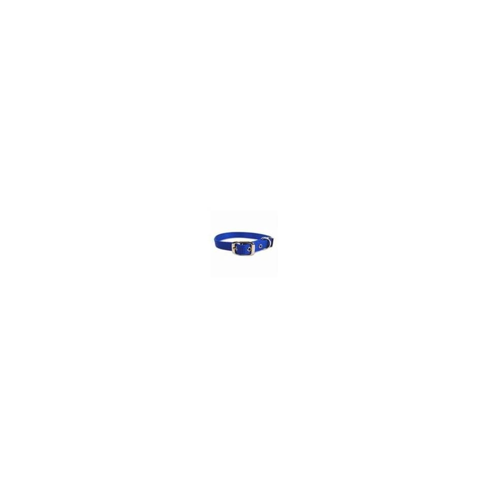 Single Thick Nylon Dog Collar Blue 18 In