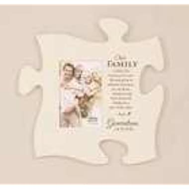 Puzzle Piece Wall Art By P. Graham Dunn (Our Family Photo Frame - White) PUF0026