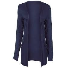Amazon.com: New Ladies Long Sleeve Boyfriend Cardigan Womens (NAVY ...