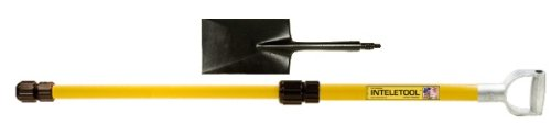Inteletool Telescopic Spade Shovel with D Grip 2 to 4 foot