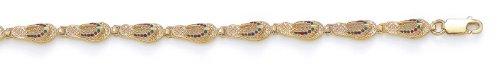 14 carats avec émail-Tong-JewelryWeb 18,4 cm