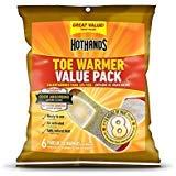 HotHands Toe Warmers - Long Lasting Safe Natural Odorless Air Activated Warmers - Up to 8 Hours of Heat - 6 Pair 2 PACK