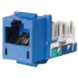 Hubbell Wiring Systems HXJ5EB25 Xcelerator Thermoplastic Universal Modular Keystone Jack, Category 5e, Blue (Bag of 25) by Hubbell Wiring Systems